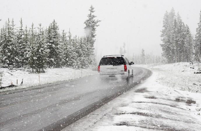 Zimowe utrzymanie dróg wgminie Powidz