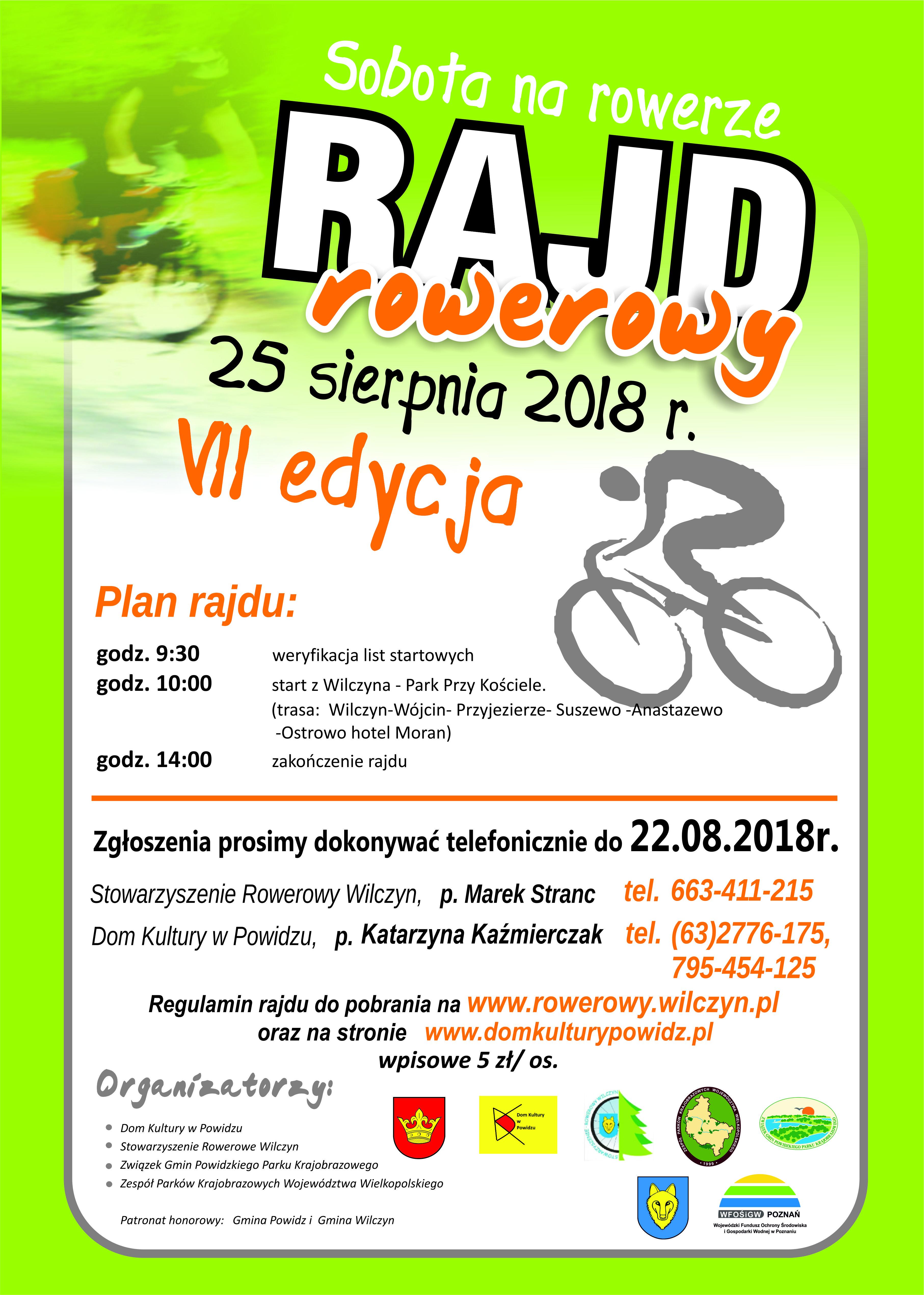 plakat rajd rowerowy 2018- powidz- DODRUKU
