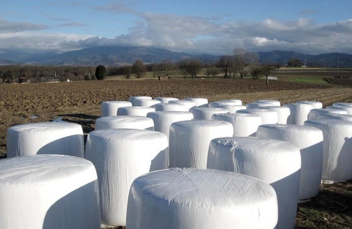 Odbiór odpadów zfolii rolniczych, siatki isznurka doowijania balotów (…)